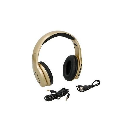 Gouden koptelefoon draadloos bluetooth