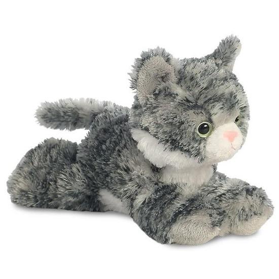 Grijs-witte kat knuffels 20 cm knuffeldieren