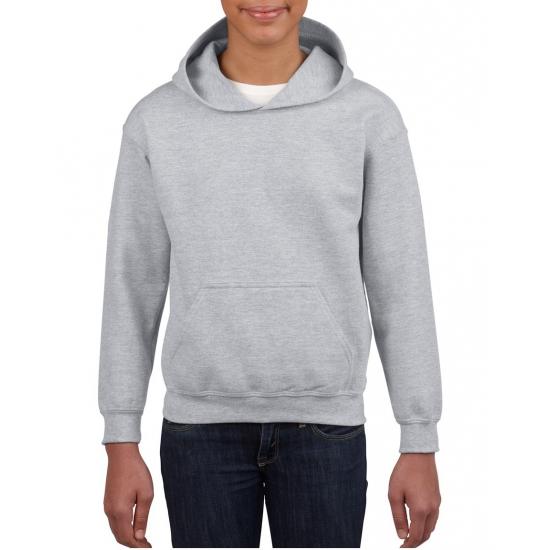 Grijze hooded jongens sweater