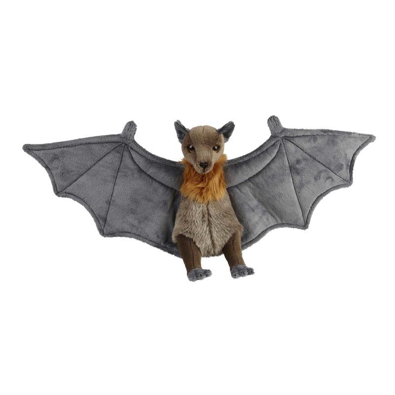 Grijze vleermuizen knuffels 36 cm knuffeldieren