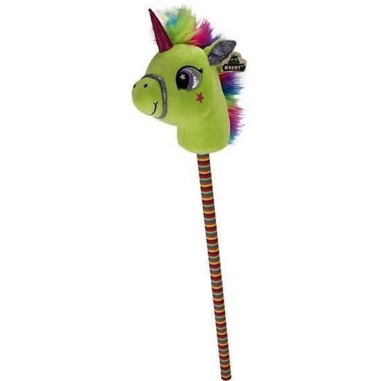 Groen eenhoorn stokpaardje 80 cm