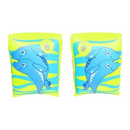 Groene dolfijn zwembandjes opblaasbaar 25 cm
