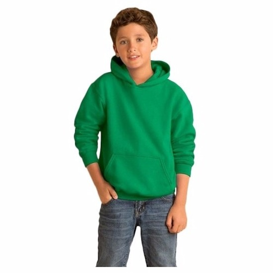 Groene hooded jongens sweater