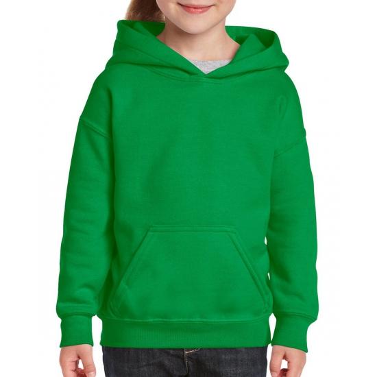 Groene hooded meisjes sweater