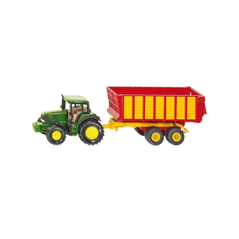 Groene John Deere speel tractor