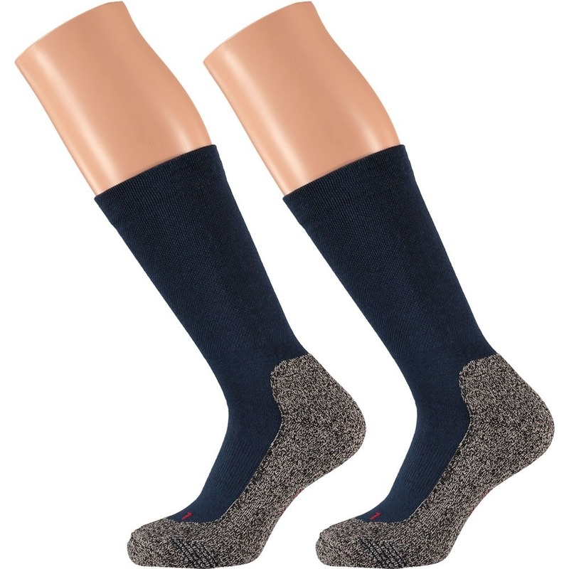 Heren hiking sokken blauw 45/47