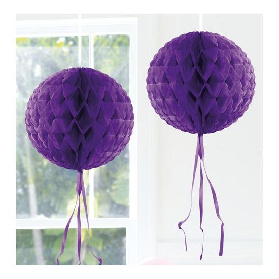 Honeycomb ballen paars 30 cm