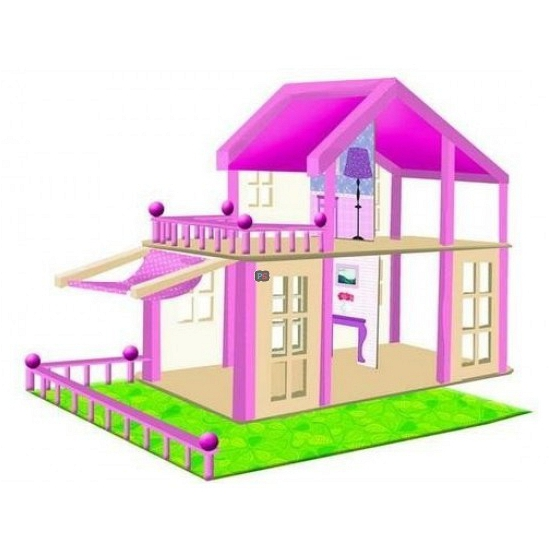 Houten poppenhuizen Britta roze