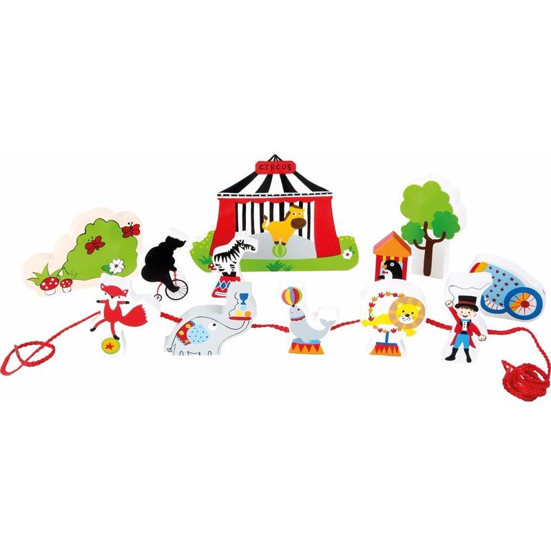 Houten speelgoed circus met dieren