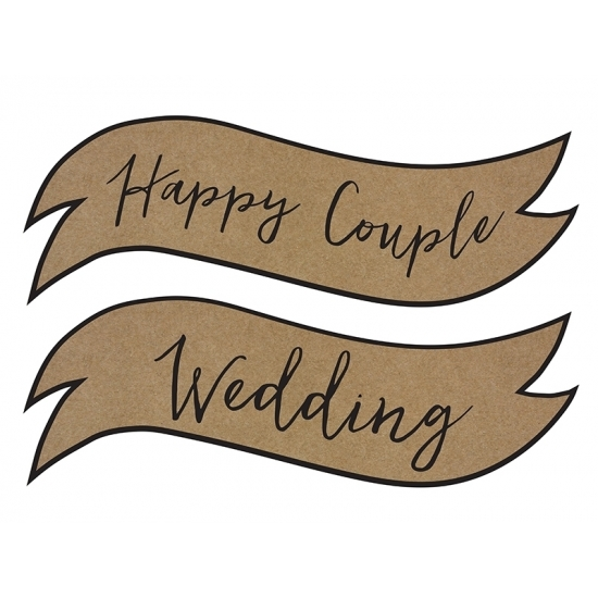 Huwelijk versiering Happy Couple