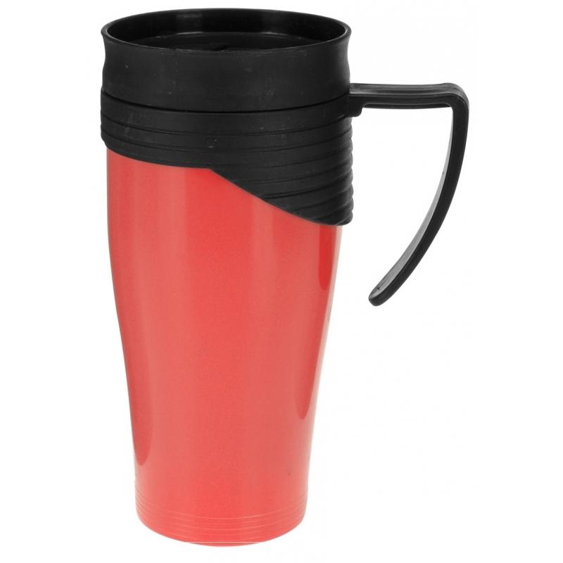 Isoleerbeker RVS rood 420 ml