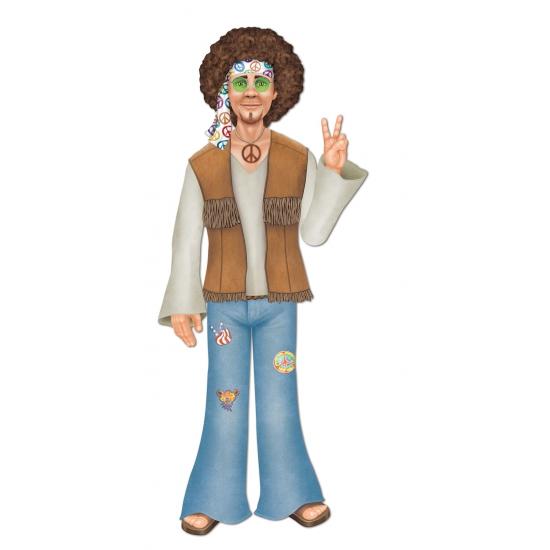Jaren 60 hippie man decoratie