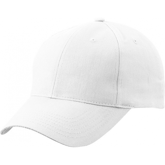 Katoenen baseball caps wit