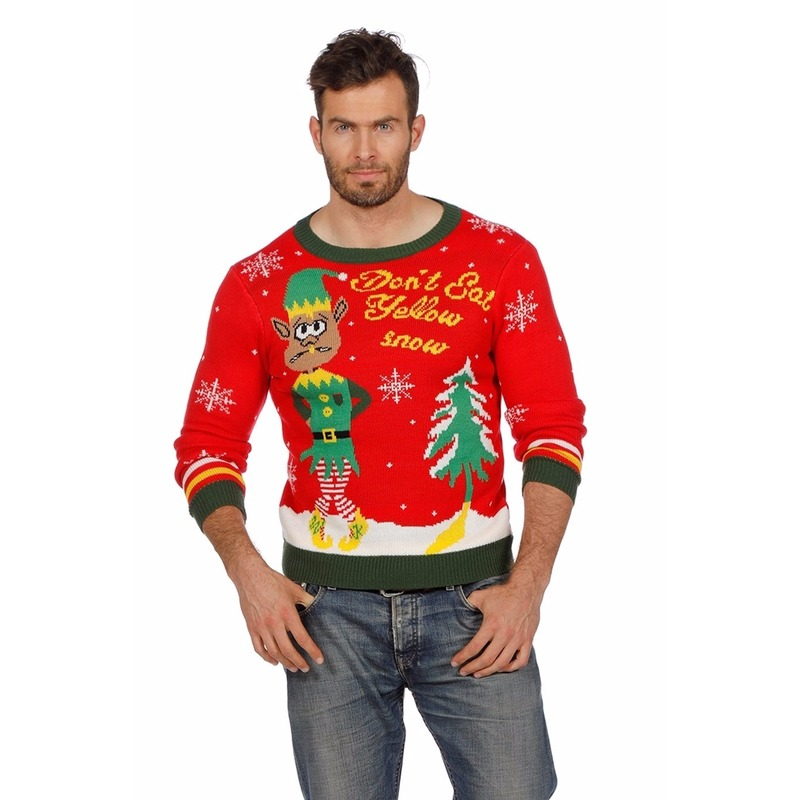 Foute Heren Kersttrui.Foute Kersttrui Yellow Snow Voor Heren Bestellen Fashionstore