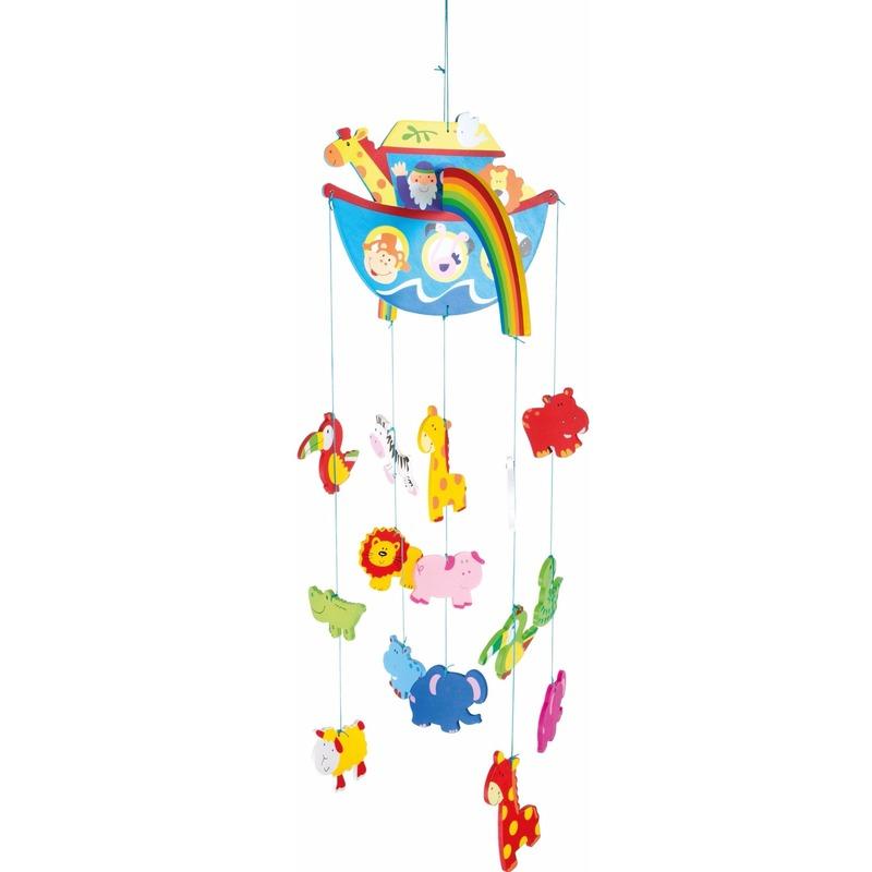 Kinderkamer decoratie mobiel boot met dieren voor meisjes