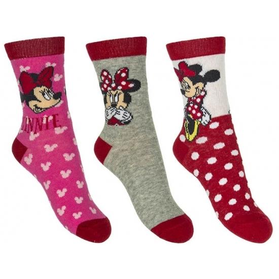Kindersokken Minnie Mouse rood