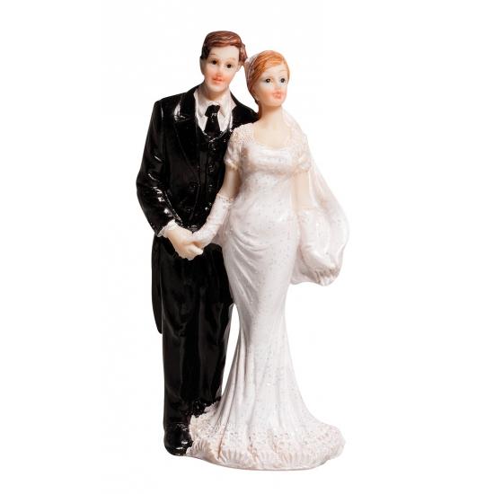 Klassiek bruidspaar beeldje 10 cm