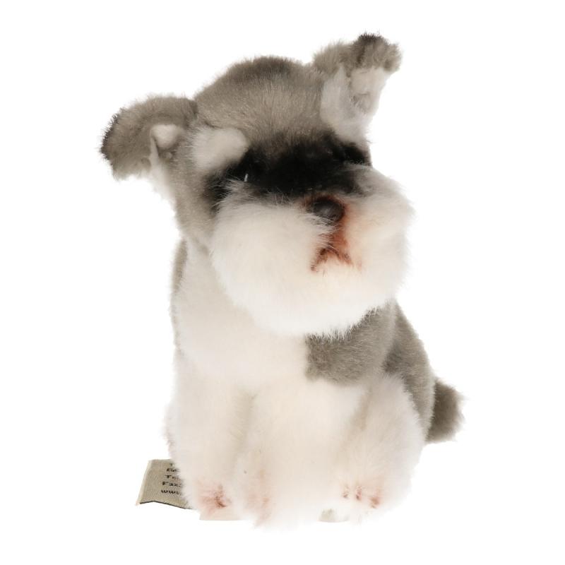 Knuffel hondje Schnauzer 13 cm