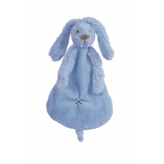 Knuffeldoekje konijn donkerblauw 25 cm