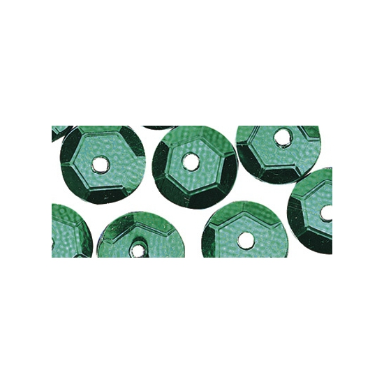 Knutselpailletten groen 6 mm 500 stuks