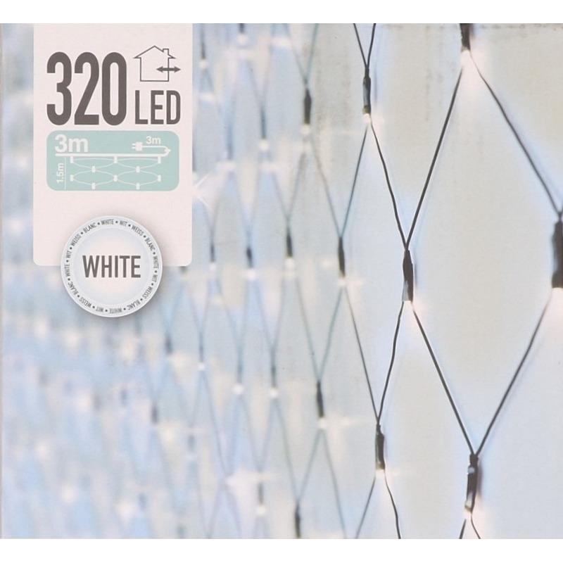 Koel witte deurgordijn kerstlampjes 1 x 2 meter met 320 lampjes