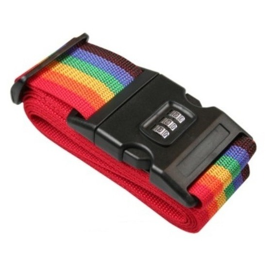 Koffer spandband met cijferslot 200 cm