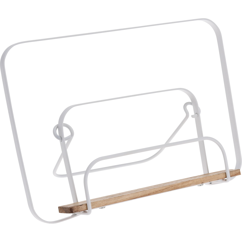 Kookboekstandaard zilver metaal 29 cm