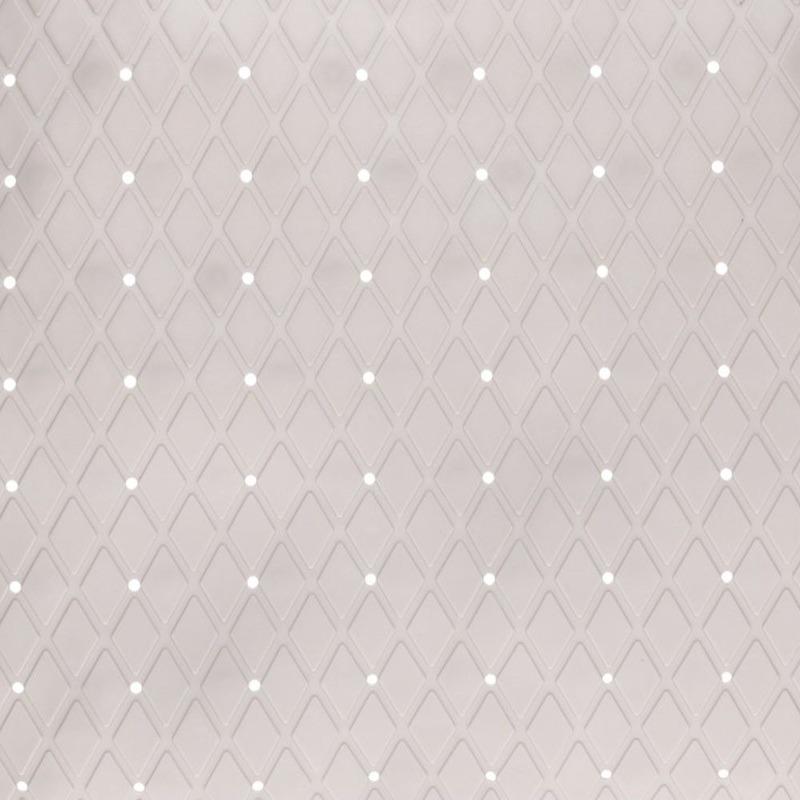 Lichtgrijze douche-badmat anti-slip 69 x 39 cm