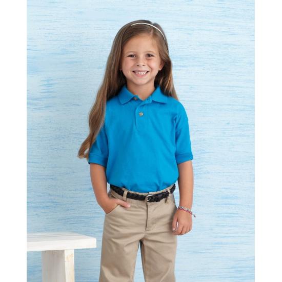 Meisjeskleding poloshirt kobalt blauw