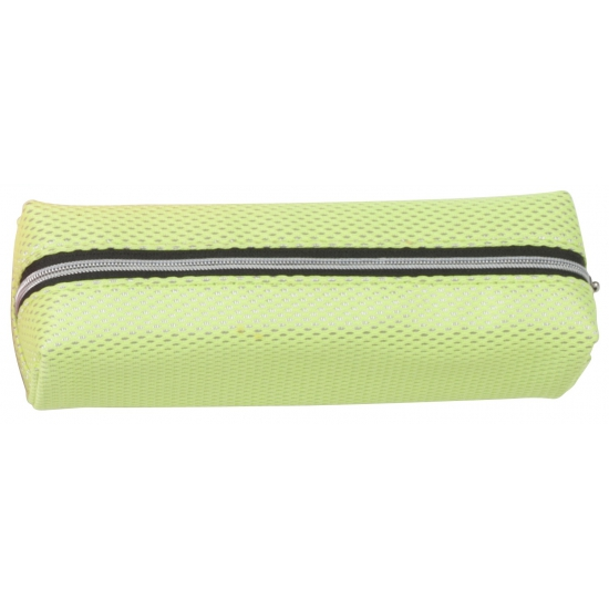 Neon groene pennen etui 19 cm