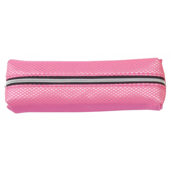 Neon roze pennen etui 19 cm