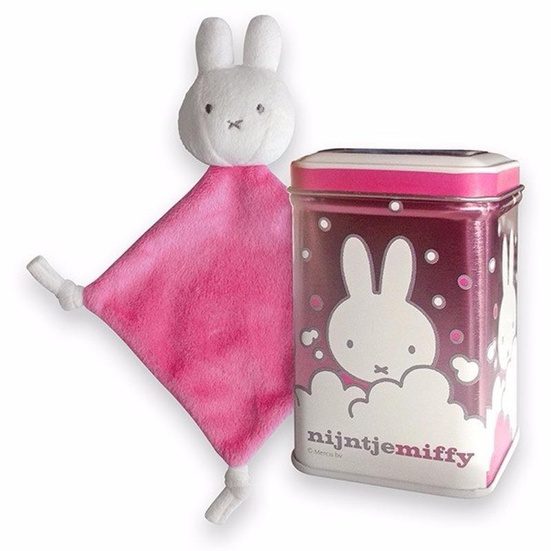Nijntje kadoblikje met roze knuffeldoekje