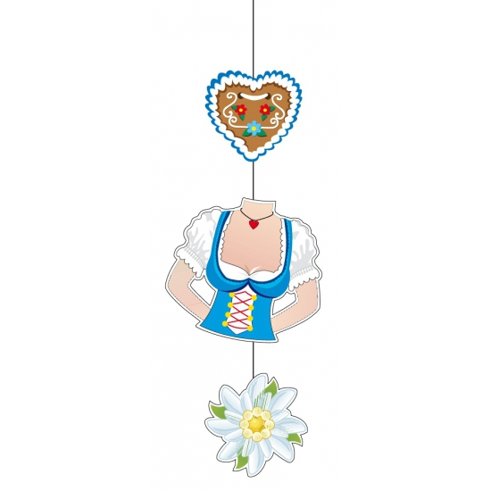 Oktoberfest decoratie hanger 70 cm