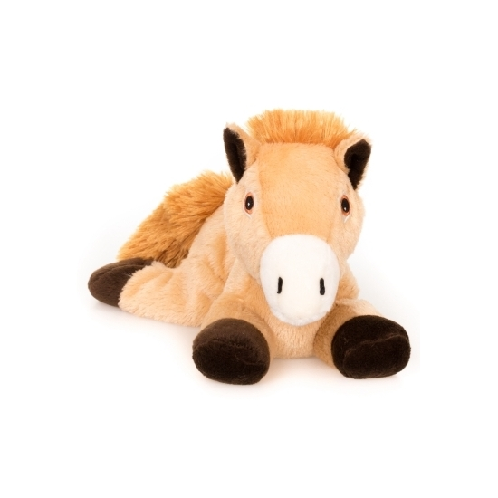 Opwarmbare knuffel bruin paard 18 cm