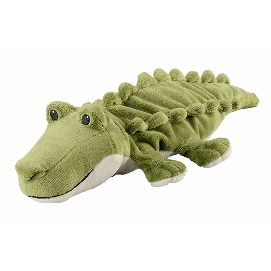 Opwarmbare knuffel krokodil groen