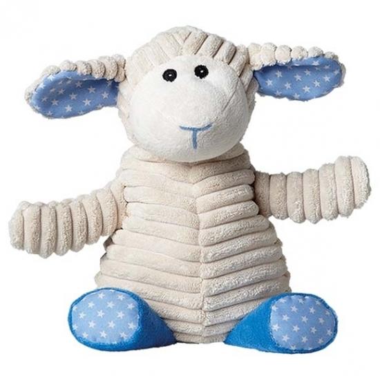 Opwarmbare knuffel schaap blauw