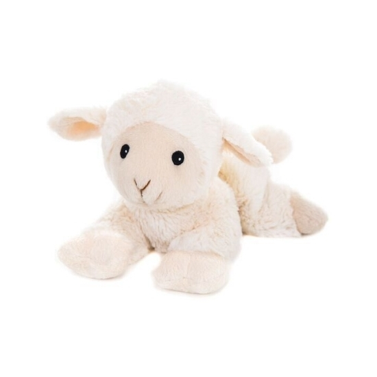 Opwarmbare knuffel schapen-lammeren wit