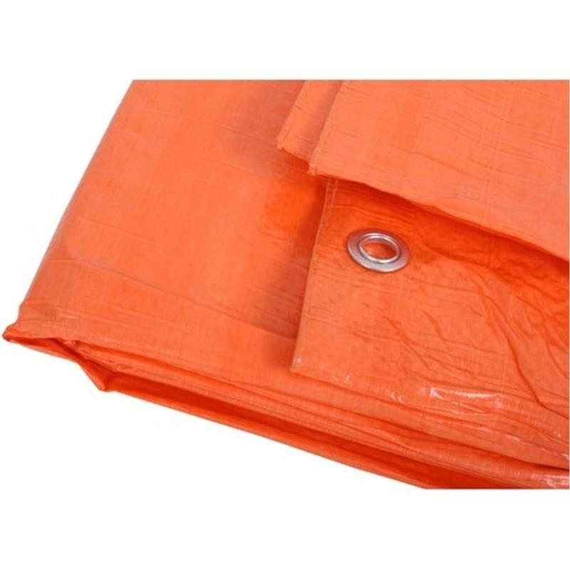 Oranje afdekzeil-dekkleed 8 x 12 m