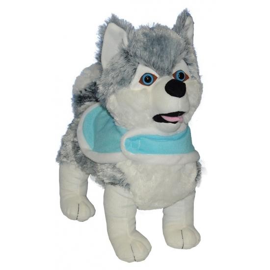 Pluche husky knuffels 40 cm