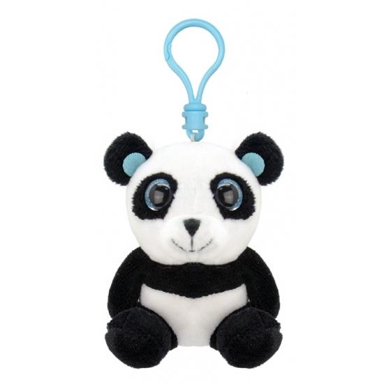 Pluche knuffel panda sleutelhanger 9 cm