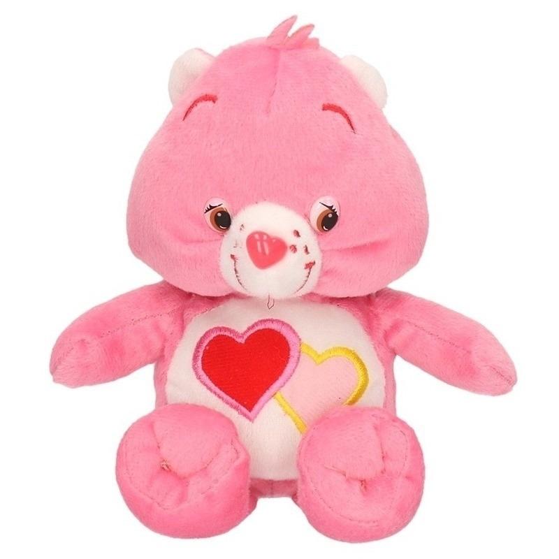 Pluche Troetelbeertjes knuffeltje roze 18 cm