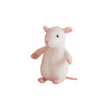 Pluche witte muis 20 cm
