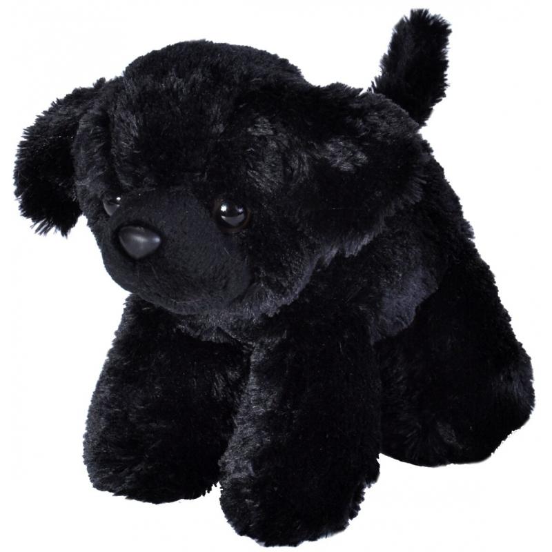 Pluche zwarte Labradors hondje 18 cm