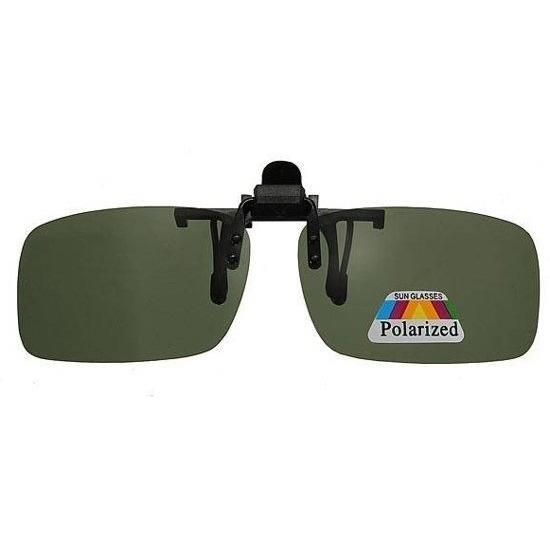 Polarized clip on zonnebril rechthoekig model