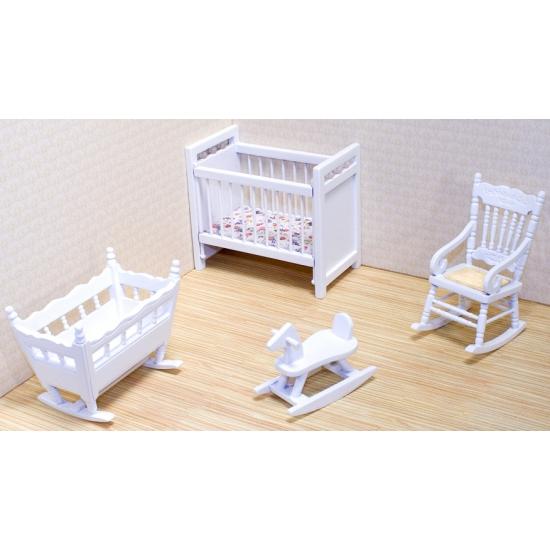 Poppenhuis kinderkamer meubels