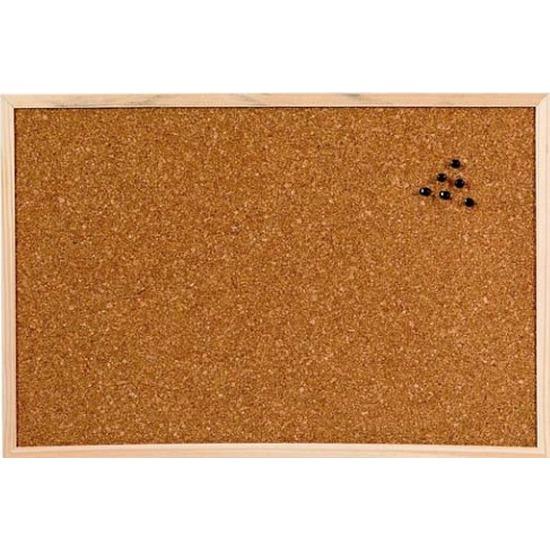 Prikbord-memobord naturel kurk 45 x 30 cm