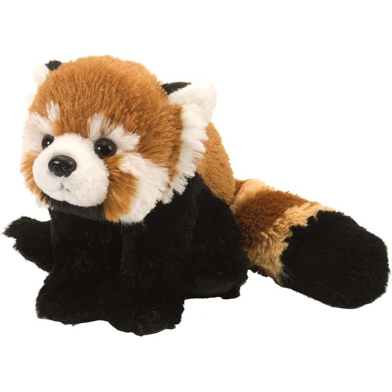 Rode panda knuffels 25 cm knuffeldieren