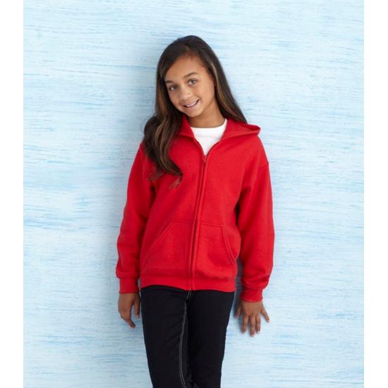 Rode sweater met rits voor meisjes