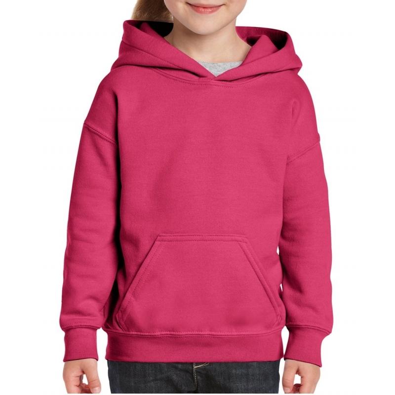 Roze hooded meisjes sweater