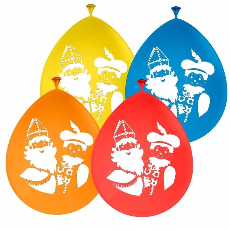 Sinterklaas decoratie ballonnen set van 8